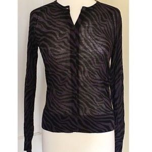 Loft black and maroon zebra lightweight cardigan